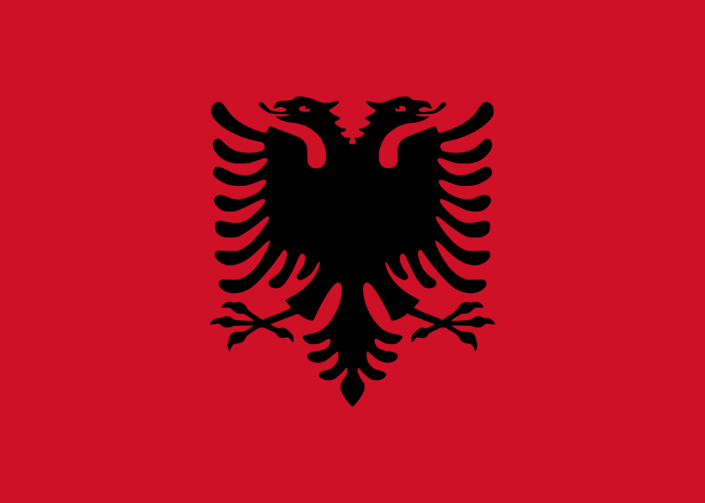 State flag of Albania