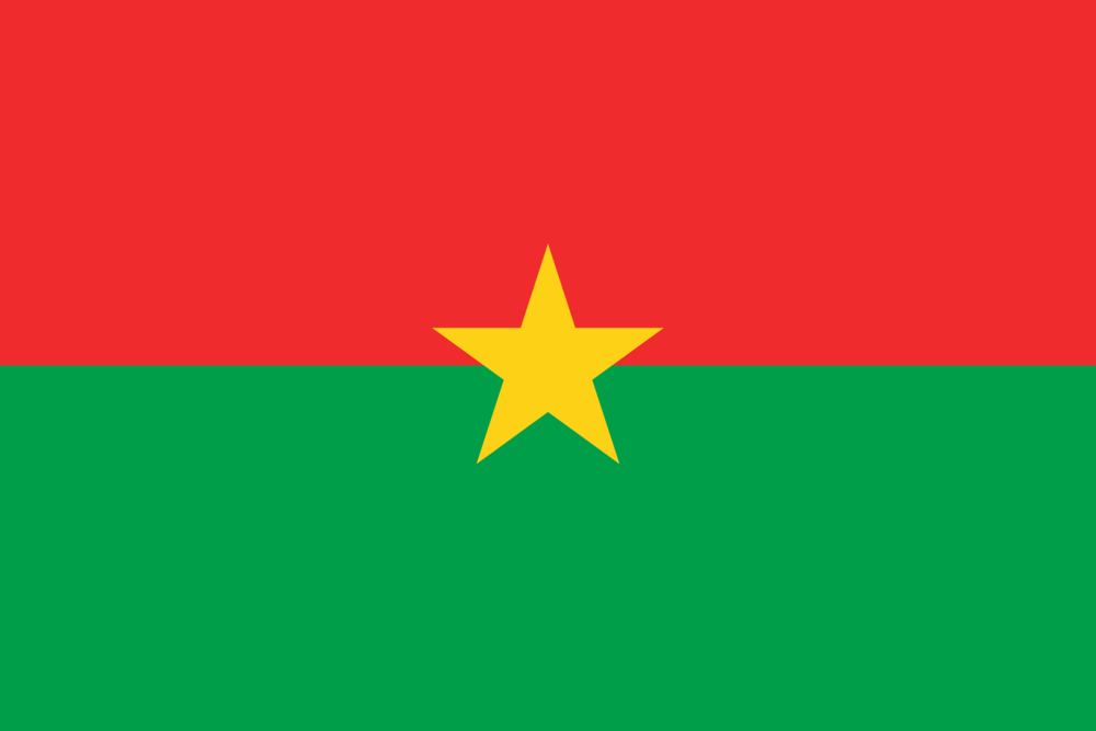 State flag of Burkina Faso