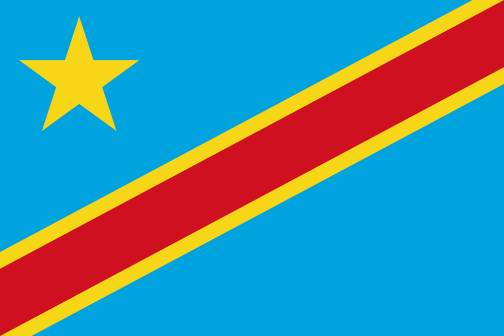 State flag of Democratic Republic of Congo