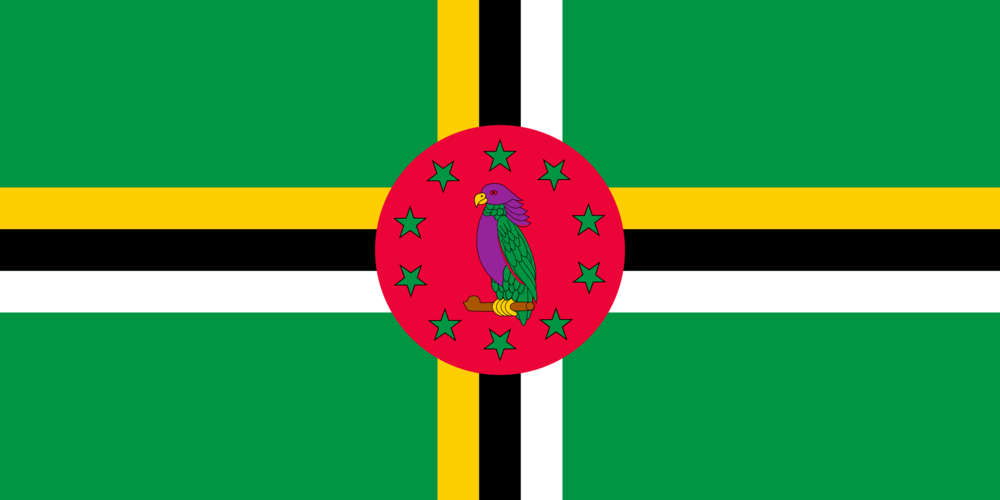 Nationale vlag van Dominica