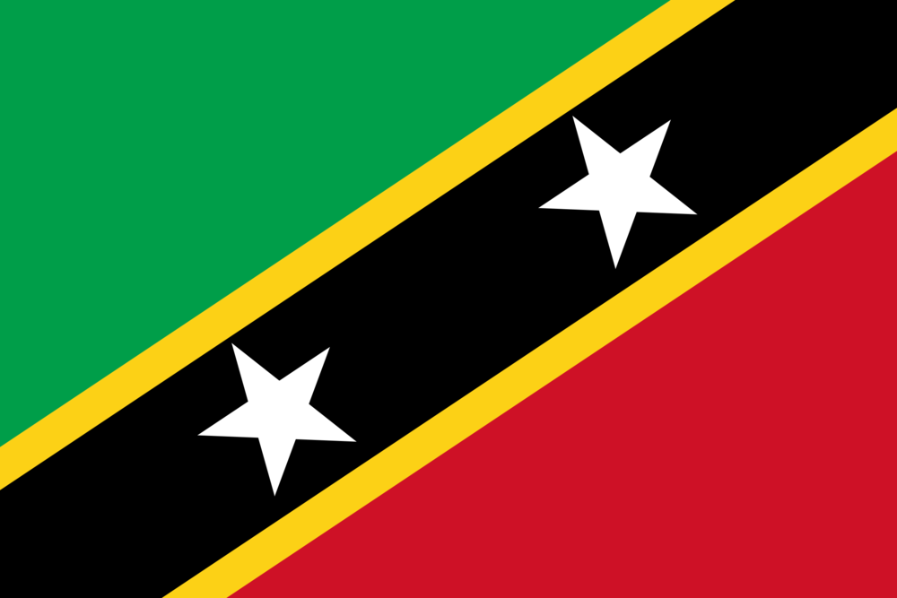 State flag of Saint Kitts and Nevis