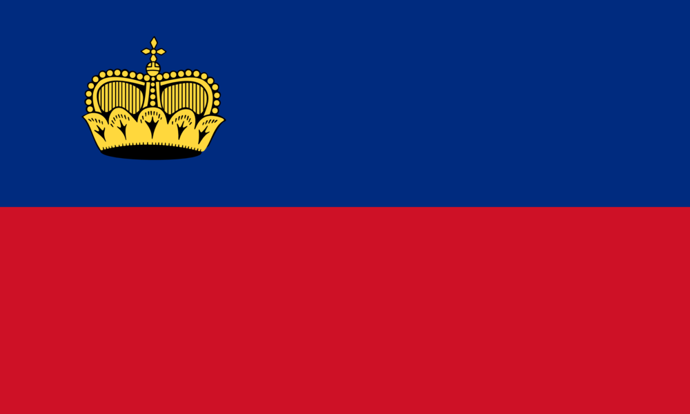 State flag of Liechtenstein
