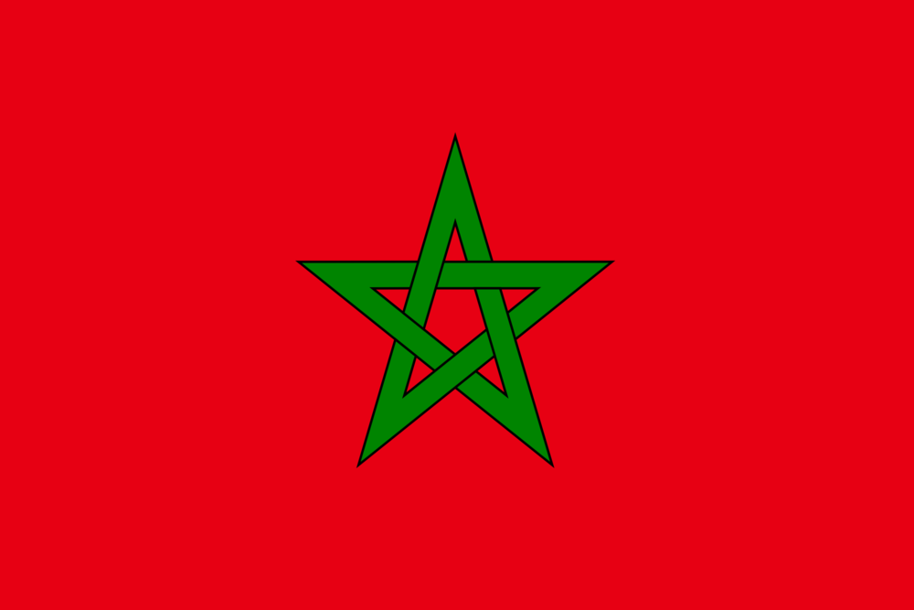 State flag of Morocco
