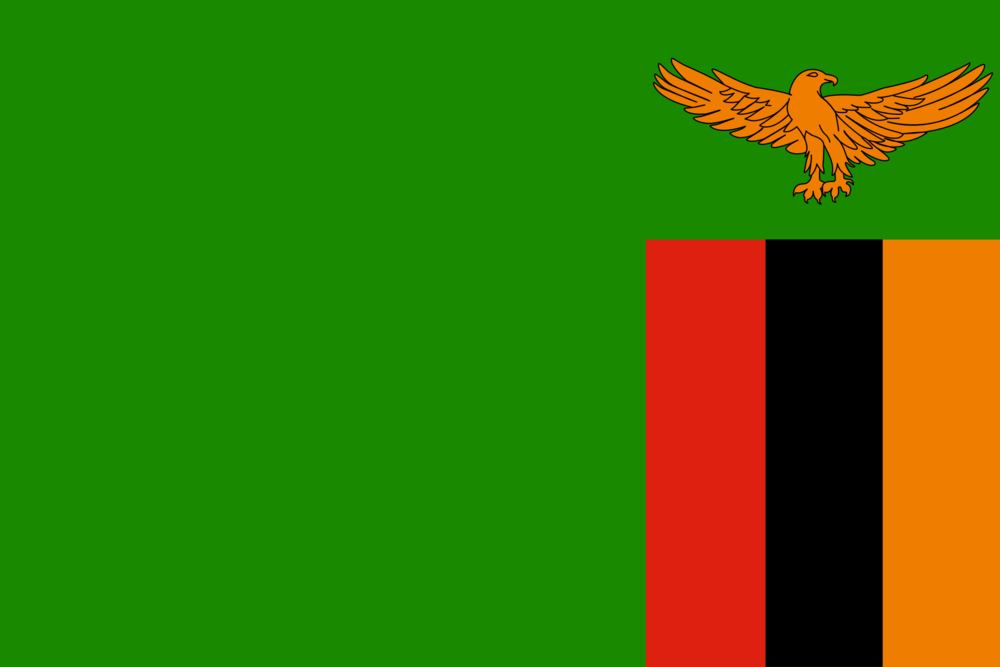 State flag of Zambia